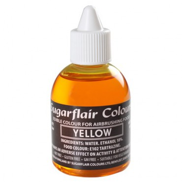 Sugarflair Airbrushfarbe Yellow - Gelb