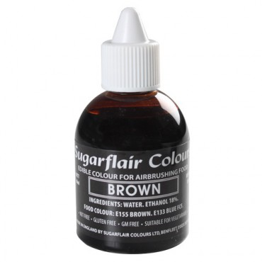 Sugarflair Airbrushfarbe Brown - Braun